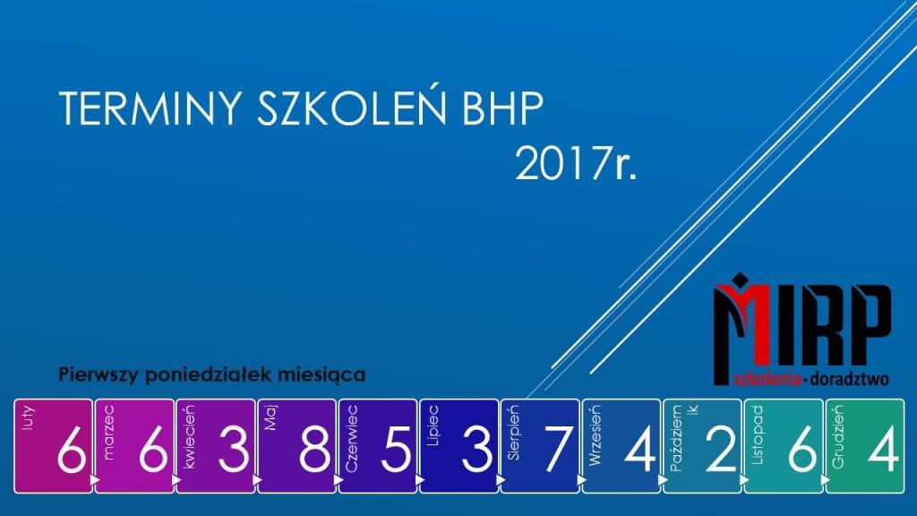 terminy szkoleń okresowych BHP